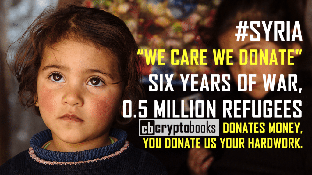 WE DONATE SYRIA AND YOU DONATE US YOUR HARD WORK